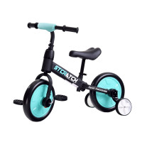 Inlea4Fun Detské cykloodrážadlo 3 v 1 Stcratck - modré