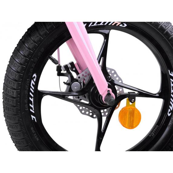 """Detský bicykel RoyalBaby  Rower 14"""" Space Shuttle RB14-22 s vodiacou tyčou - fialový"""