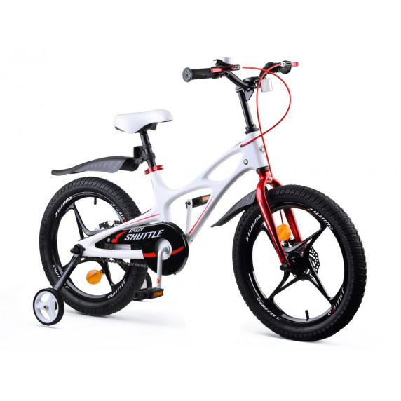 """Detský bicykel RoyalBaby Rower 18"""" Space Shuttle RB18-22 - biely"""
