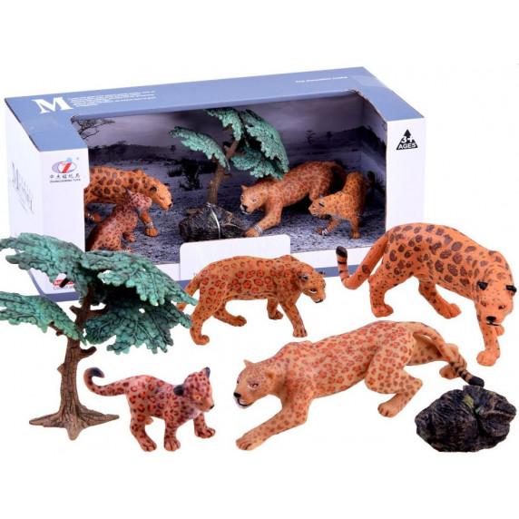 Leopardia rodina figúrky Inlea4Fun