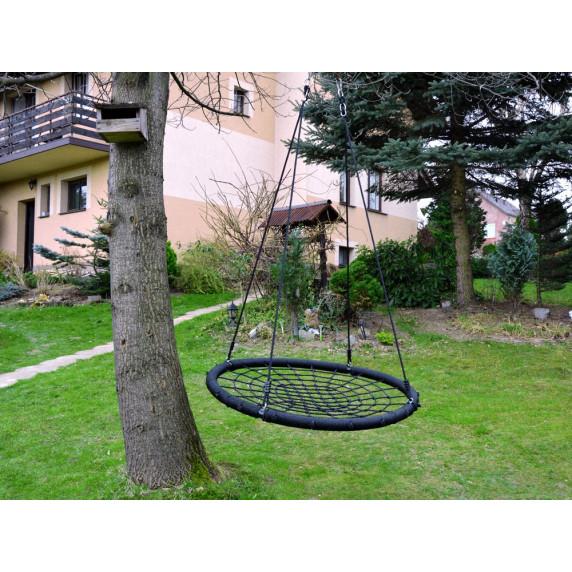 Záhradná hojdačka hniezdo 120 cm Inlea4Fun - čierná