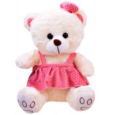 Inlea4Fun Plyšový medvedík v sukničke 30 cm - biely Preview