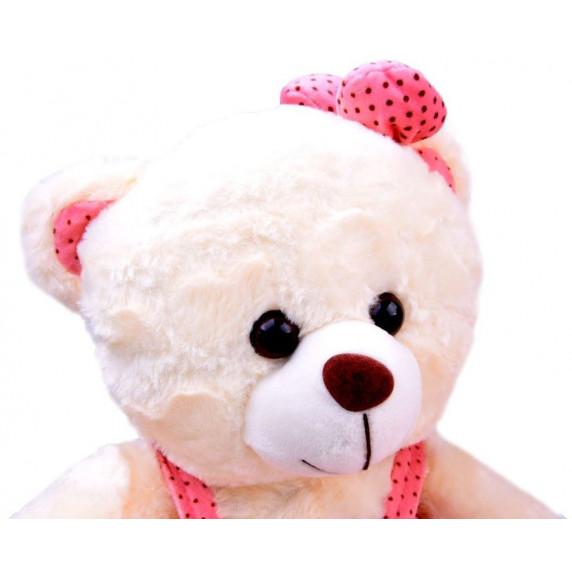 Inlea4Fun Plyšový medvedík v sukničke 30 cm - biely