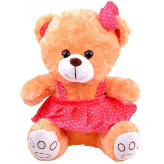 Plyšový medvedík v sukničke Inlea4Fun 30 cm - hnedý