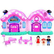 Inlea4Fun Beautiful House Detský rozkladací domček s nábytkom a bábikami Preview