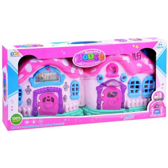 Detský rozkladací domček s nábytkom a bábikami Inlea4Fun BEAUTIFUL HOUSE