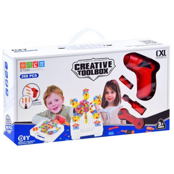 Inlea4Fun Konštrukčná kreatívna sadá CREATIVE TOOLBOX 268 kusov