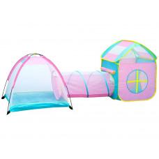 Inlea4Fun Tent play with tunnel Detský hrací stan so spojovacím tunelom