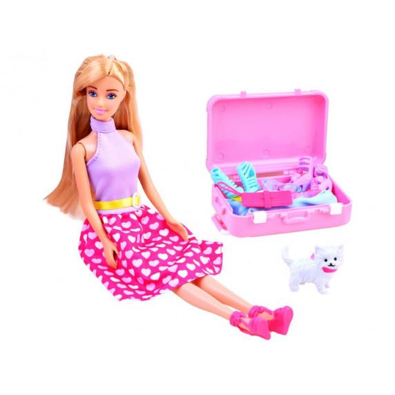 Inlea4Fun ANLILY Šatníková skriňa s bábikou a doplnkami
