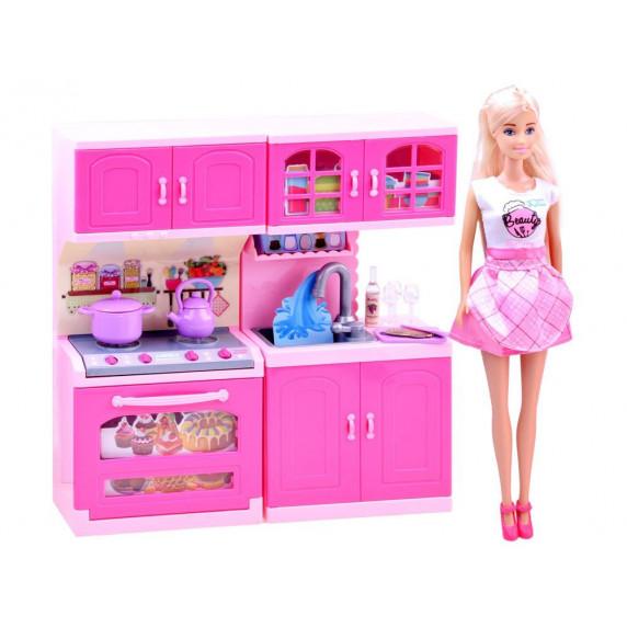 Inlea4Fun ANLILY Kuchynka s bábikou a doplnkami