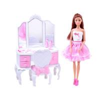 Bábika s toaletným stolíkom a príslušenstvom Inlea4Fun ANLILY Princess Dresser