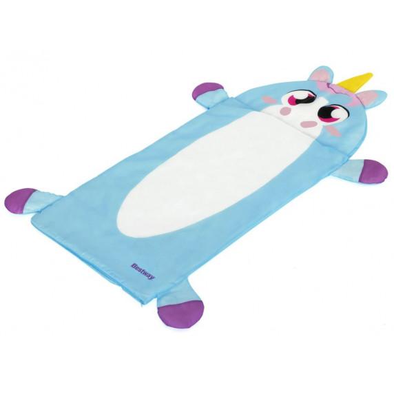 Detský nafukovací matrac + spací vak 132 x 76 cm BESTWAY Jednorožec