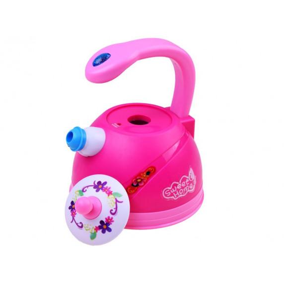 Detský čajník so svetelnými a zvukovými efektmi Inlea4Fun SWEET HOME - ružový