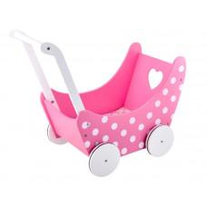Drevený kočík pre bábiky Inlea4Fun PINK DOLL'S PRAM  Preview
