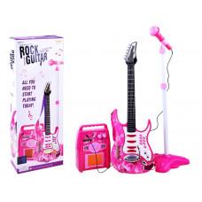 Inlea4Fun Elektrická gitara s mikrofónom a zosilňovačom - ružová Preview