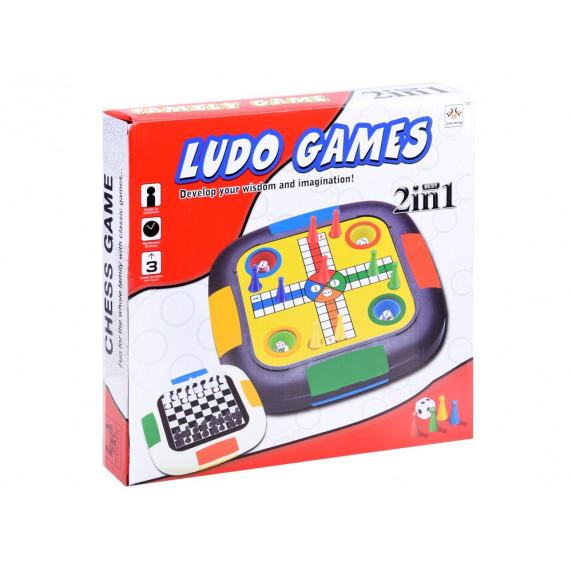 Spoločenská hra 3 v 1 Inlea4Fun LUDO GAMES