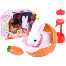 Inlea4Fun Interaktívny zajačik v košíku Moe Rabbit Preview