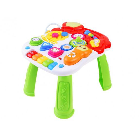 Detské edukačné chodítko s mélodiami Inlea4Fun MUSICAL STROLLER - zelené/žlté