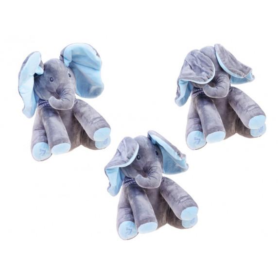 Inlea4Fun Interaktívny plyšový slon - modrý