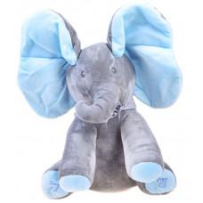 Inlea4Fun Interaktívny plyšový slon - modrý Preview