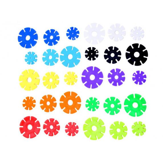 Konštrukčná kreatívna sada 360 kusov Inlea4Fun SNOWFLAKE 3D