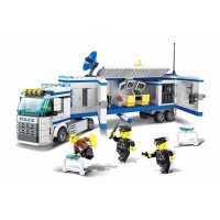 Konštrukčná kreatívna sada Policajná stanica 395 ks Inlea4Fun POLICE