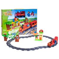Inlea4Fun TRAIN Vlaková trať s doplnkami - červená