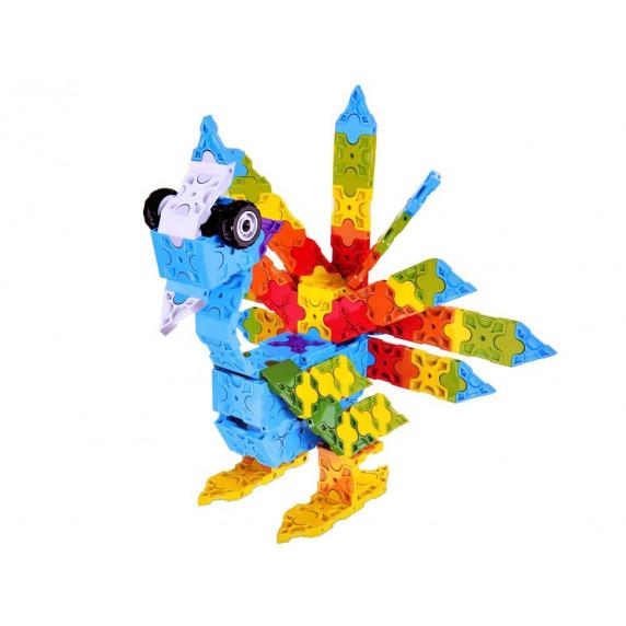 Konštrukčná kreatívna sada 3D Inlea4Fun ANIMAL WORLD BLOCKS 227 kusov