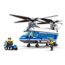 Konštrukčná kreatívna sada Policajný vrtuľník 427 ks Inlea4Fun POLICE HELICOPTER Preview