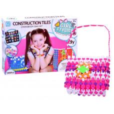 Urob si sama! Kreatívna dievčenská kabelka Inlea4Fun CONSTRUCTION TILES Preview