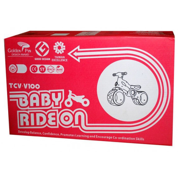 Inlea4Fun Detské odrážadlo motorka BABY RIDE ON RO0063 - ružové