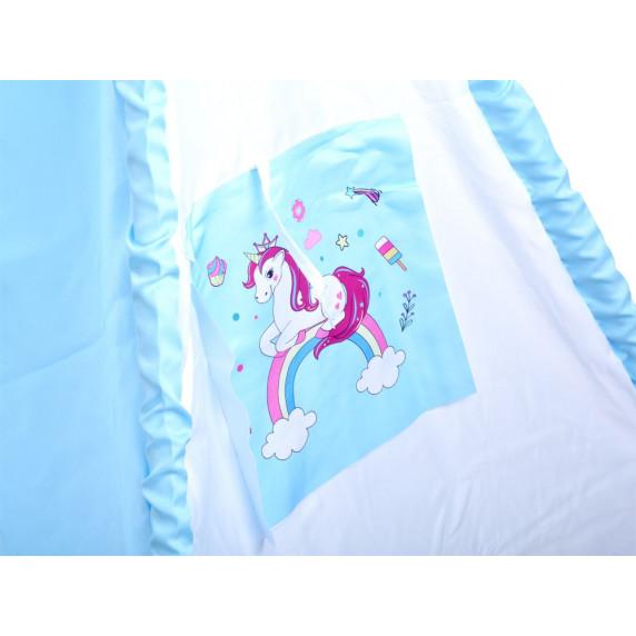 Detský stan Inlea4Fun TENT HOUSE - jednorožec modrý