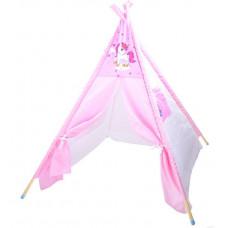 Detský stan Inlea4Fun TENT HOUSE - jednorožec ružový Preview