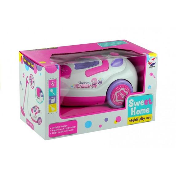 Inlea4Fun SWEET HOME Detský zvukový vysávač - ružový/biely
