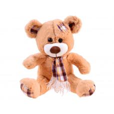 Plyšový medvedík s károvanou šatkou 30 cm Inlea4Fun - hnedý Preview