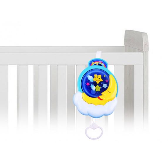Inlea4Fun Závesná hračka nad postieľku CRIB TOYS Mesiačik