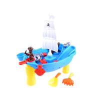 Pieskovisko na stolíku Pirátska loď Inlea4Fun SAND BEACH TOYS