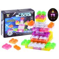 Inlea4Fun Svietiace kocky stavebnice ELECTRONIC BLOCKS 37 kusov