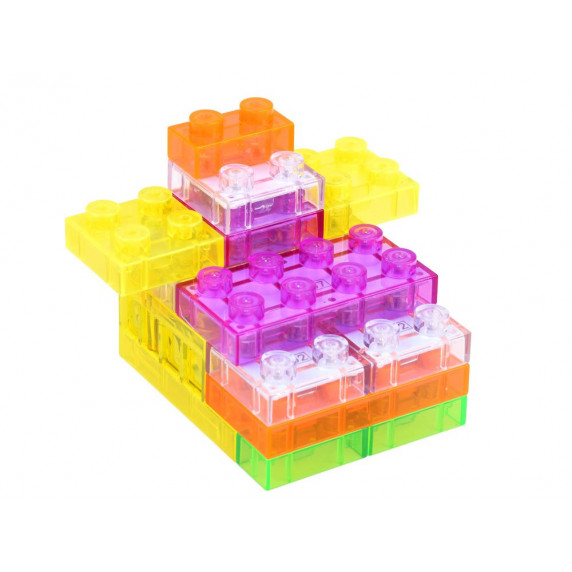 Svietiace kocky stavebnice Inlea4Fun ELECTRONIC BLOCKS 37 kusov