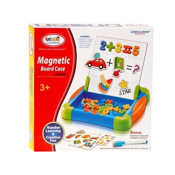 Inlea4Fun MAGNETIC BOARD CASE Magnetická tabuľa s číslicami a kartičkami