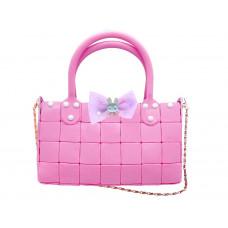 Urob si sama! Kreatívna dievčenská kabelka Inlea4Fun YOUR STYLE - ružová Preview