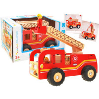 Inlea4Fun Drevené hasičské auto FIRE TRUCK