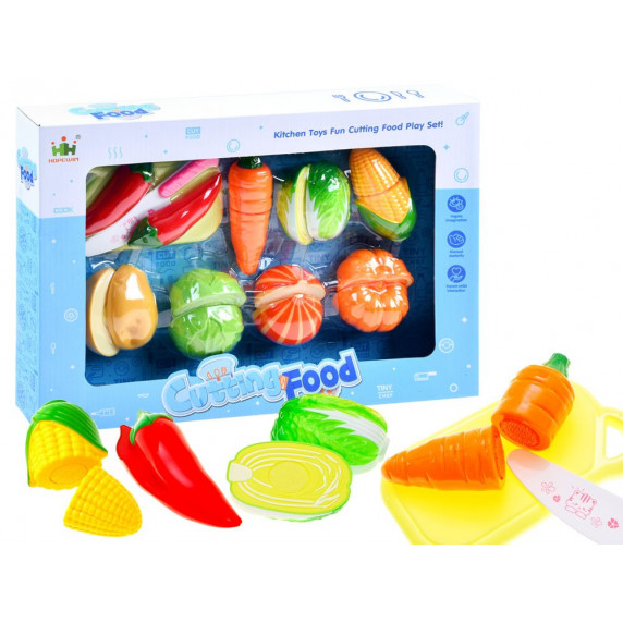Inlea4Fun Detská krájacia sada zeleniny CUTTING FOOD