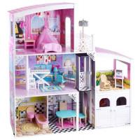 Inlea4Fun Drevený domček pre bábiky DOLLY