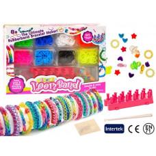 Farebné gumky pre výrobu náramkov Inlea4Fun Loom Band  Preview