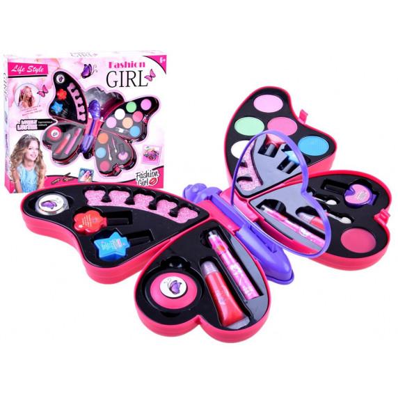 Sada na líčenie Fashion Girl Inlea4Fun - motýlik