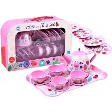 Detská čajová súprava s 14 doplnkami Inlea4Fun CHILDREN´S TEA SET  - ružová s kvetinkami Preview