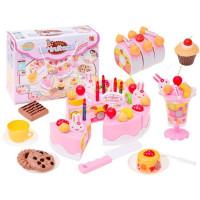 Inlea4Fun detská krájacia torta DIY FRUITCAKE s 75 doplnkami
