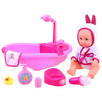 Inlea4Fun BATHTIME Kúpeľňa s bábikou