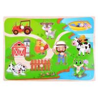 Drevená vkladačka - puzzle Inlea4Fun - farma